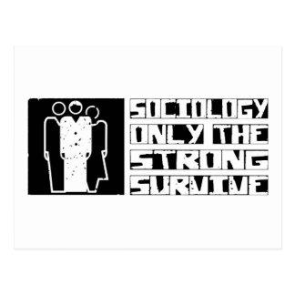 La sociologie survivent carte postale
