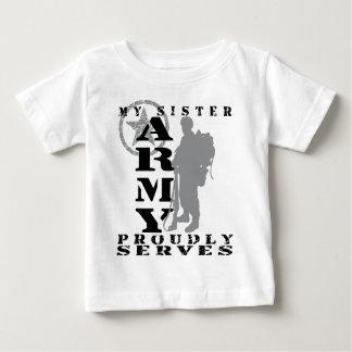 La soeur sert fièrement - l'ARMÉE T-shirt Pour Bébé