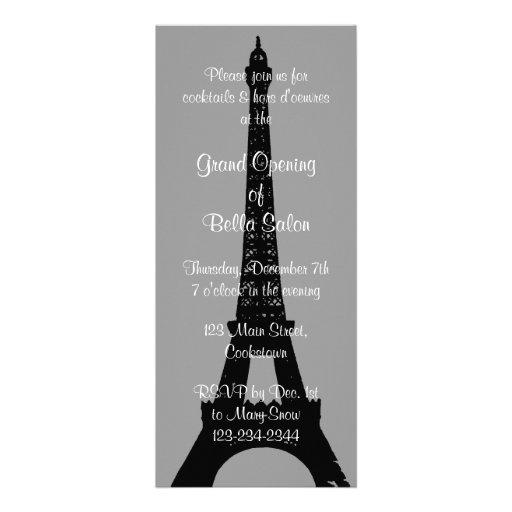 La soirée grise d'ouverture officielle à Paris Faire-parts