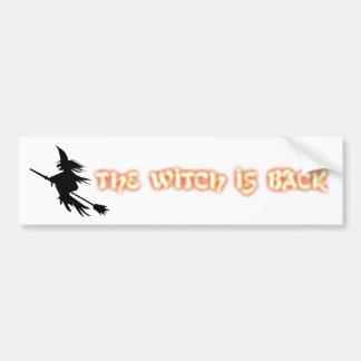 La sorcière est de retour noir orange drôle de | autocollant pour voiture