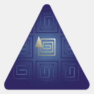 La sortie sticker triangulaire