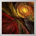 La spirale de la copie d'art abstrait de la vie posters