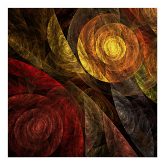 La spirale de la copie d'art abstrait de la vie poster