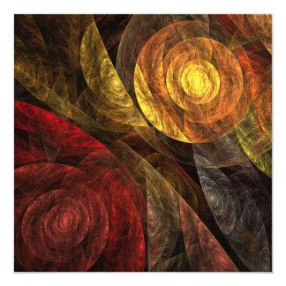 La spirale de l'art abstrait de la vie faire-part