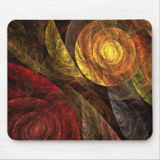 La spirale de l'art abstrait Mousepad de la vie Tapis De Souris