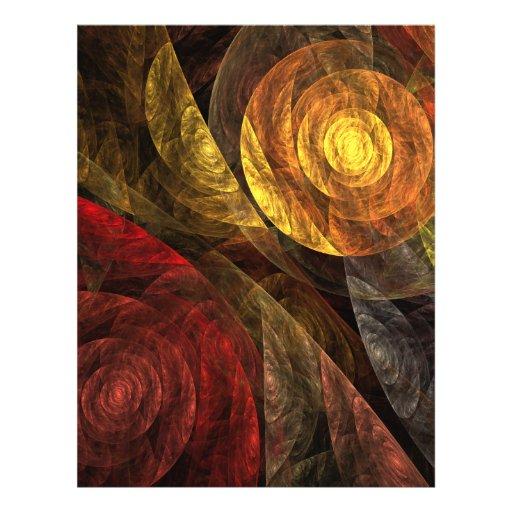 La spirale de l'insecte d'art abstrait de la vie prospectus en couleur
