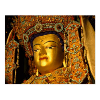 La statue dorée de Jowo Bouddha, temple de Carte Postale