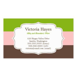 La sucrerie barre des cartes de maman carte de visite