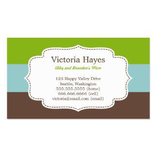 La sucrerie barre des cartes de maman cartes de visite professionnelles