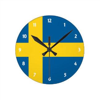 la Suède Horloge Ronde