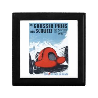 La Suisse 1937 Grand prix emballant l'affiche Boîte À Souvenirs