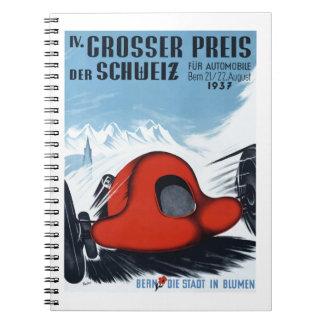 La Suisse 1937 Grand prix emballant l'affiche Carnet