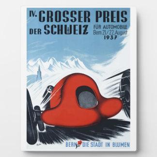 La Suisse 1937 Grand prix emballant l'affiche Plaque Photo
