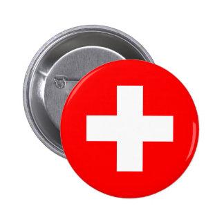 La Suisse - drapeau suisse Badge Rond 5 Cm