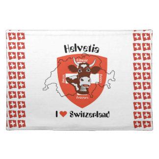 La Suisse - Suisse - Svizzera - Svizra série de ta Sets De Table