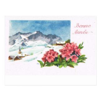 La Suisse vintage   Jungfrau, Bonne Année Carte Postale