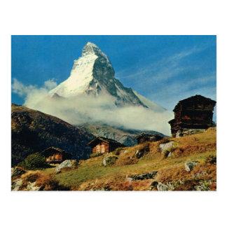 La Suisse vintage Matterhorn, Valais Carte Postale