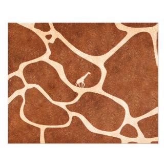La surface de motif de peau de girafe souille des prospectus 11,4 cm x 14,2 cm