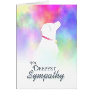 La sympathie la plus profonde - carte de sympathie