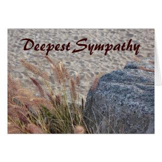 la sympathie la plus profonde de plage carte de vœux