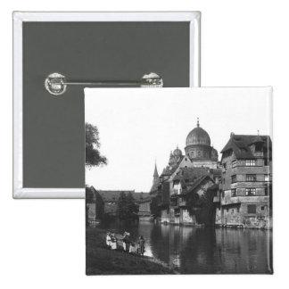 La synagogue à Nuremberg, c.1910 Badges