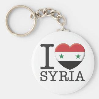 La Syrie Porte-clé Rond