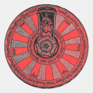 La table ronde d'Arthur Sticker Rond