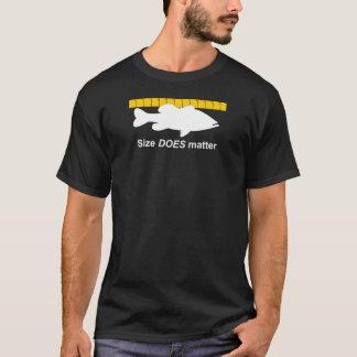 """La """"taille importe"""" - pêche au bar drôle t-shirt"""