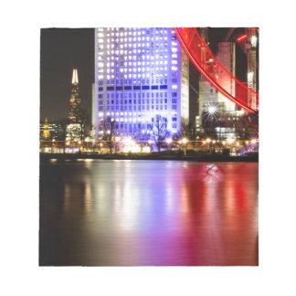 La Tamise en couleurs la nuit Blocs Notes