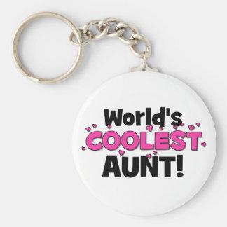 La tante la plus fraîche du monde !  Grand cadeau Porte-clé Rond