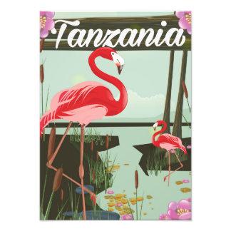 La Tanzanie - lac Natron - affiche de voyage de Tirage Photo