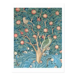 La tapisserie de pivert, détail des piverts carte postale
