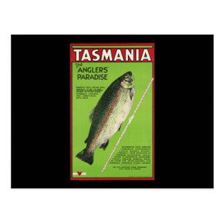 La Tasmanie le paradis des pêcheurs à la ligne Carte Postale