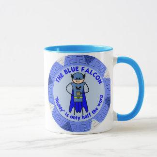 La tasse bleue de faucon