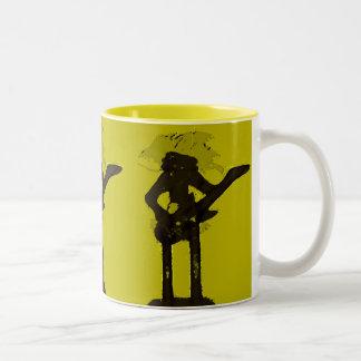 La tasse d art de bruit de guitariste
