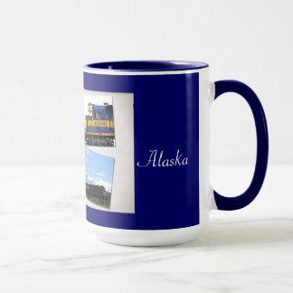 La tasse d'Alaska de chemin de fer