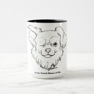 La tasse de café chanceuse de peinture de Fox