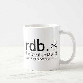 La tasse de café de base de données de robot