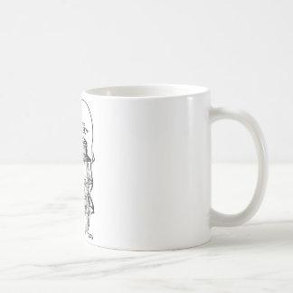 La tasse de café de lanterne de chemin de fer de