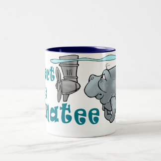 La tasse de café de plongeur de lamantin protègent