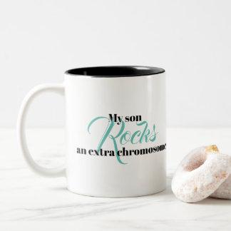 """La tasse de café """"mon fils bascule un chromosome"""