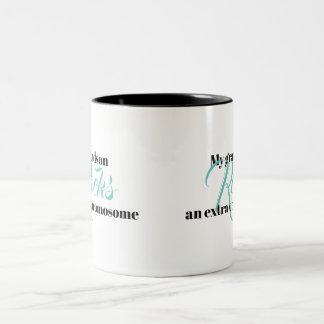 """La tasse de café """"mon petit-fils bascule un"""
