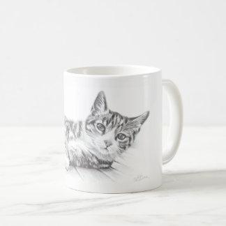 La tasse de chat, tasse d'art de chat, amoureux de