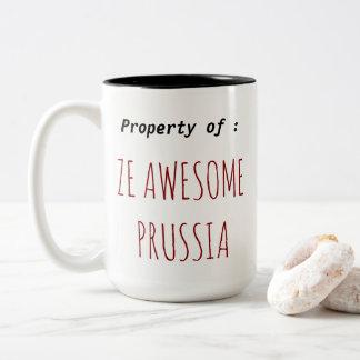 La tasse de la Prusse d'impressionnant