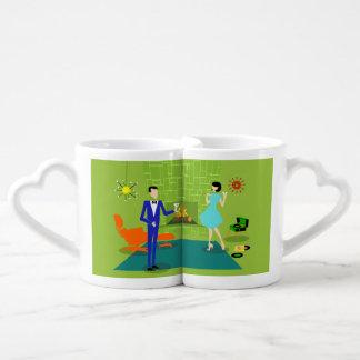 La tasse des amants modernes de couples de la tasses duo