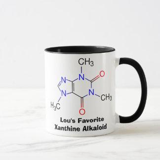 La tasse d'intoxiqué de caféine