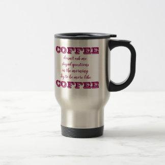 La tasse drôle   de voyage de café soit plutôt le