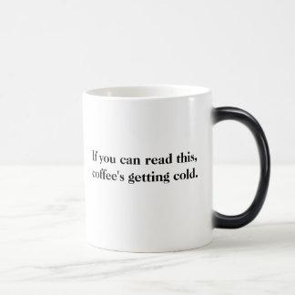La tasse Morphing froide de obtention du café