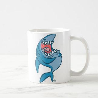 La tasse riante de bande dessinée de requin