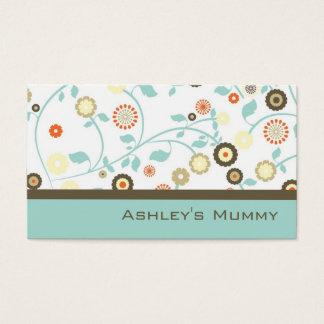 La télécarte de maman fleurit Brown vert moderne Cartes De Visite